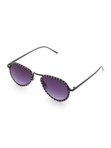 Rhinestone Frame Aviator Sunglasses