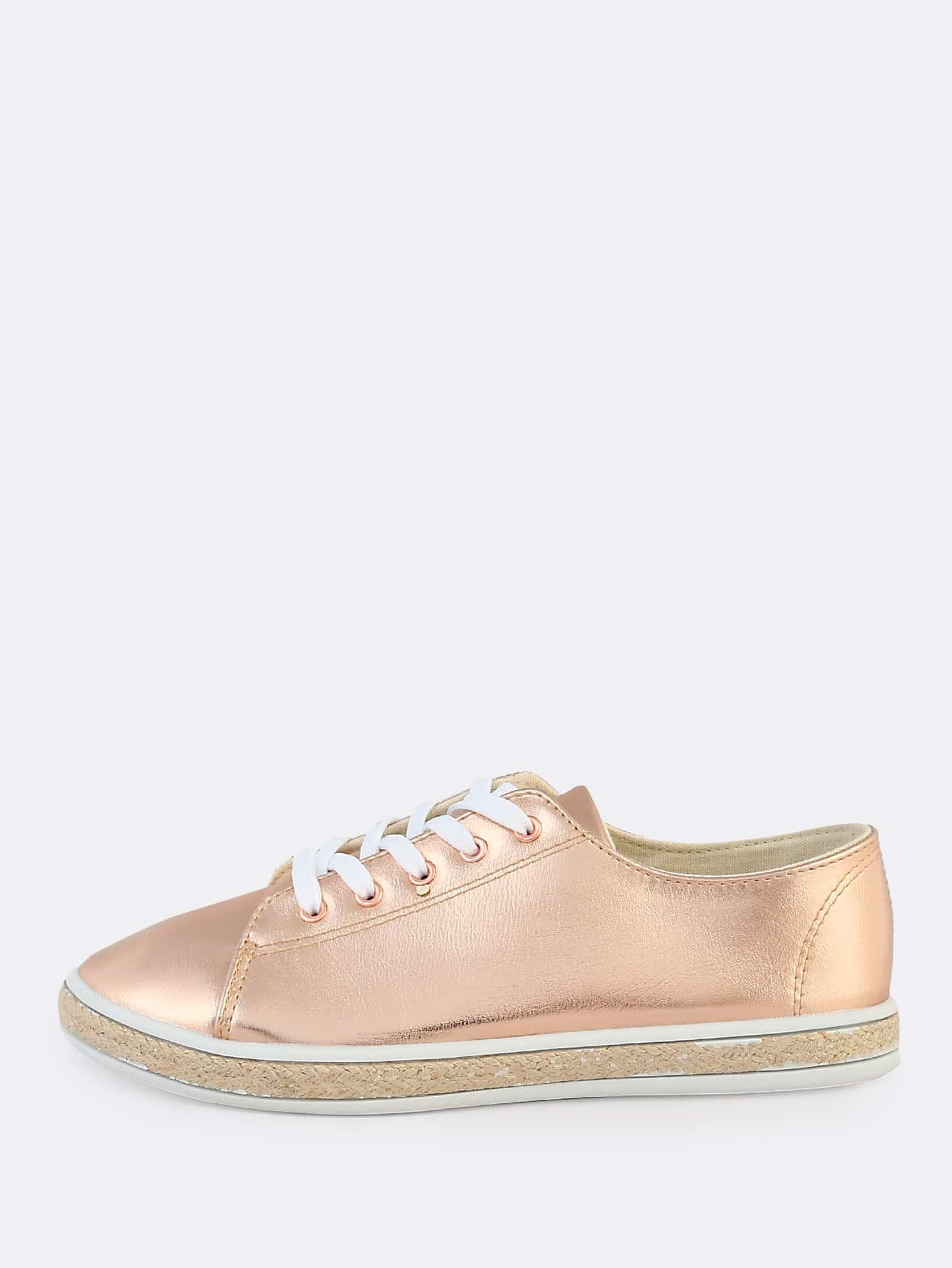 metallic espadrilles sneakers rose gold makemechic com. Black Bedroom Furniture Sets. Home Design Ideas