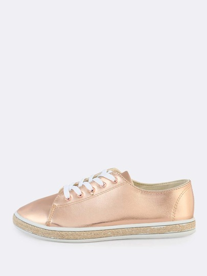 Metallic Espadrilles Sneakers ROSE GOLD