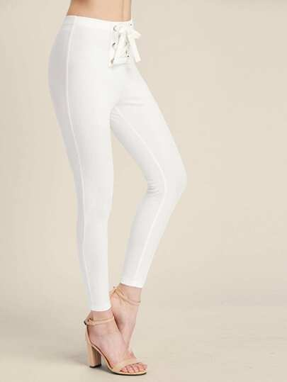 Grommet Lace Up Front Leggings