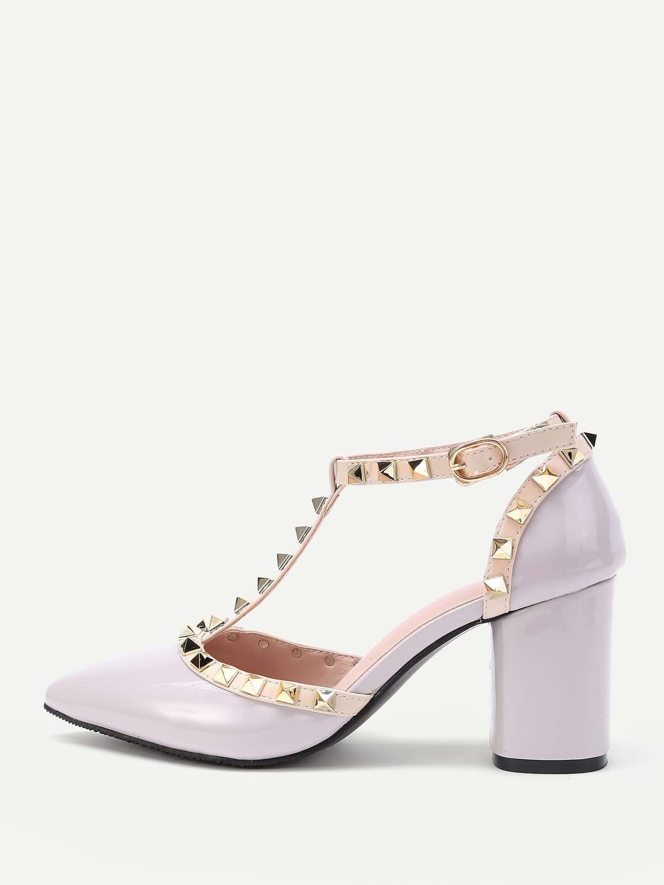 Фото Rockstud Decorated Point Toe Heeled Shoes. Купить с доставкой