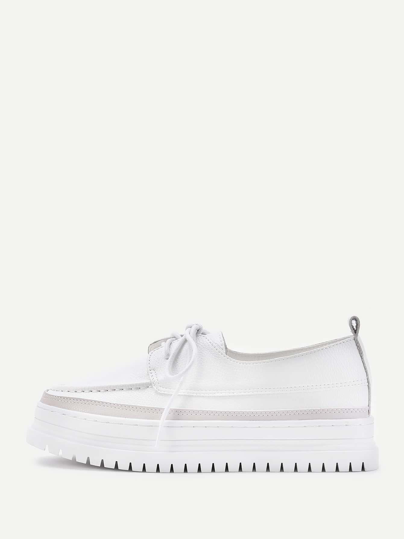 Фото Almond Toe Lace Up PU Shoes. Купить с доставкой