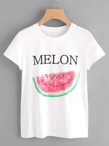 Watermelon Print Tee
