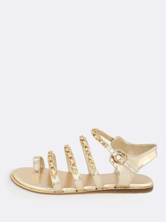 Quadruple Chain Sandals GOLD