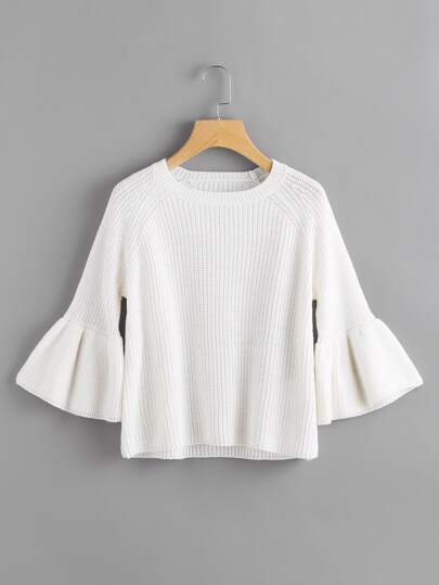 Pull-over manche cloche