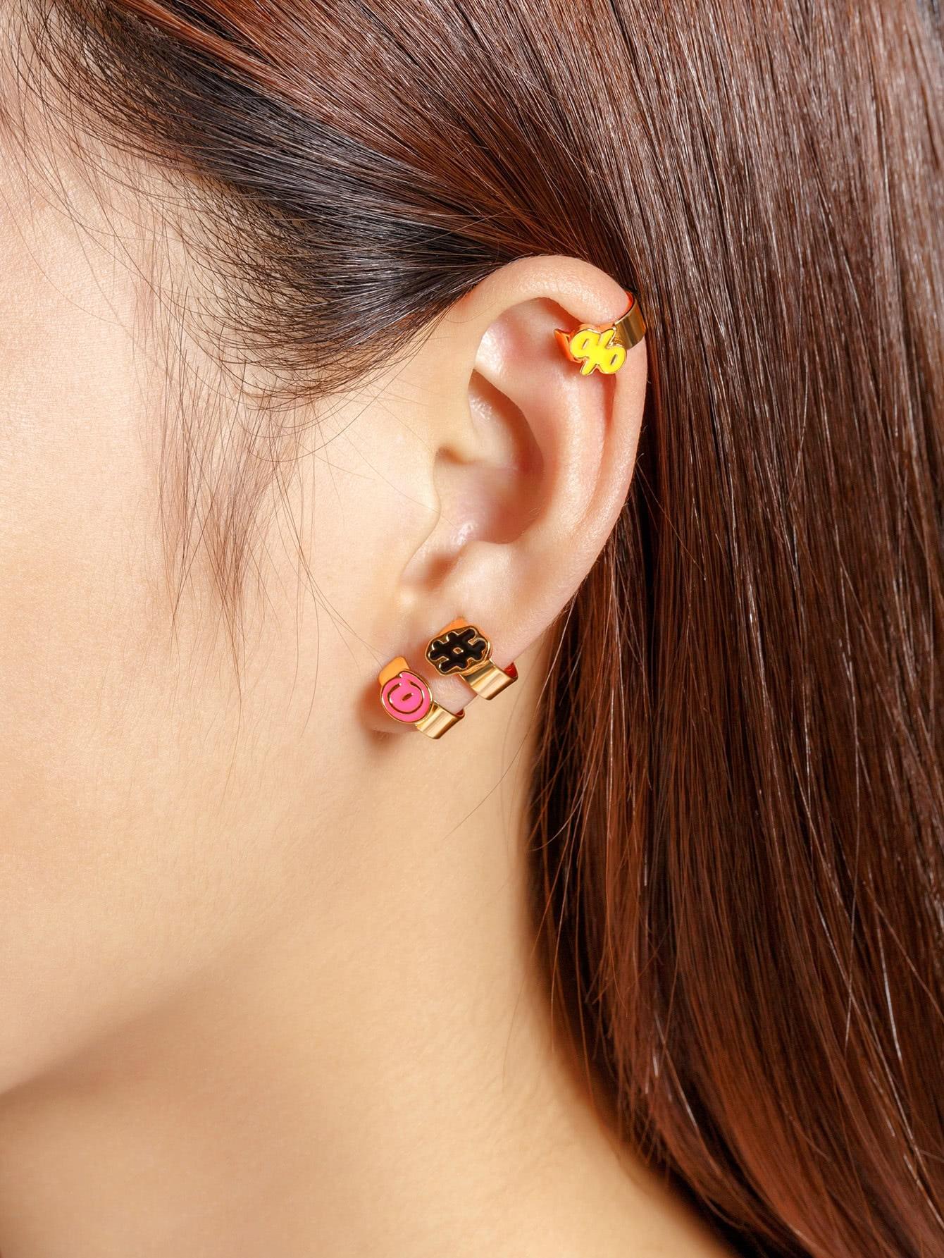Фото Multi Shaped Cute Ear Cuff Set 3pcs. Купить с доставкой