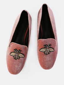 Bee Patchwork Loafers BLUSH