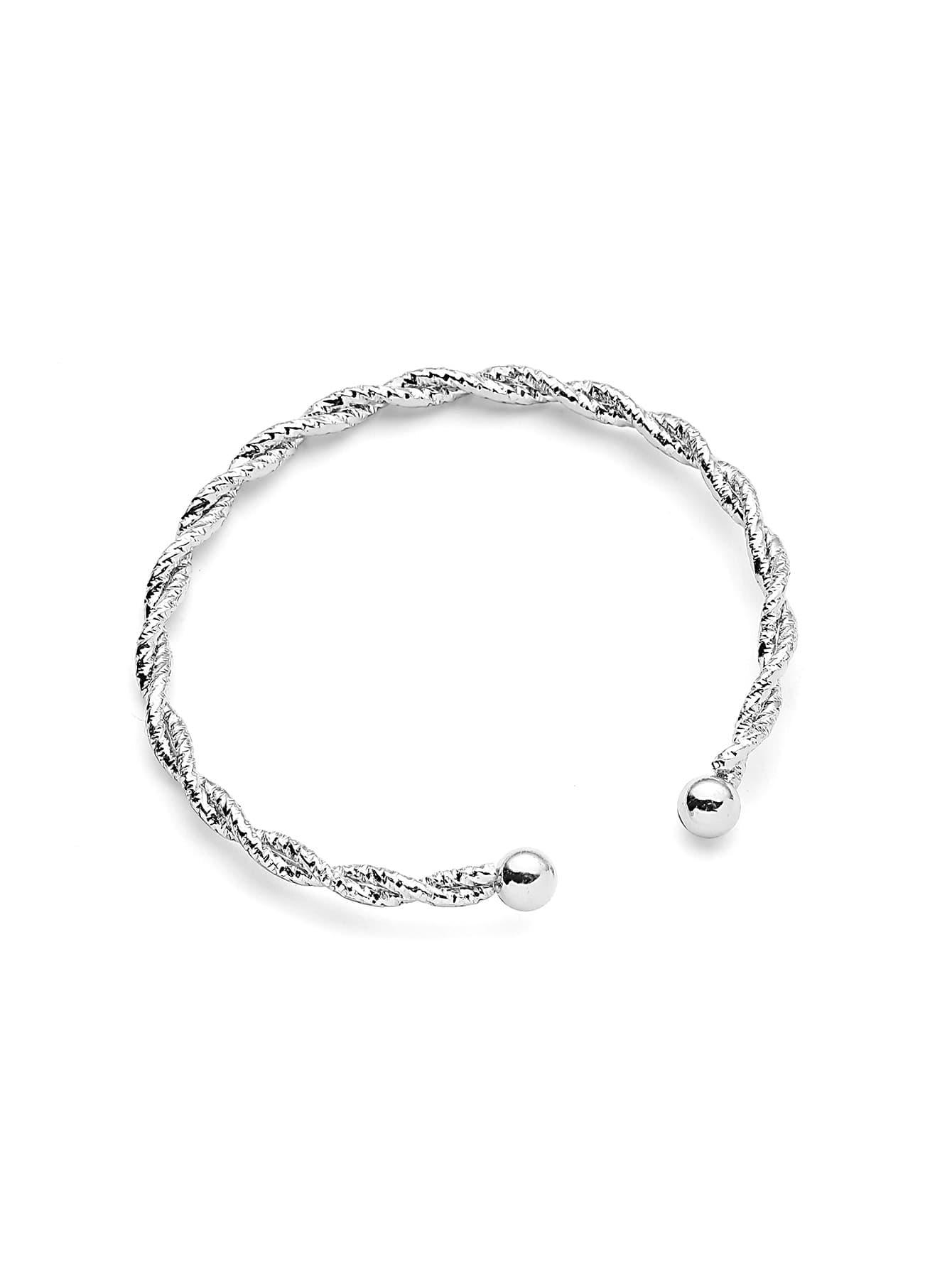 Plated Woven Design Bracelet woven textile design