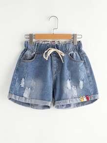 Pantaloncini in Denim Pigiamato