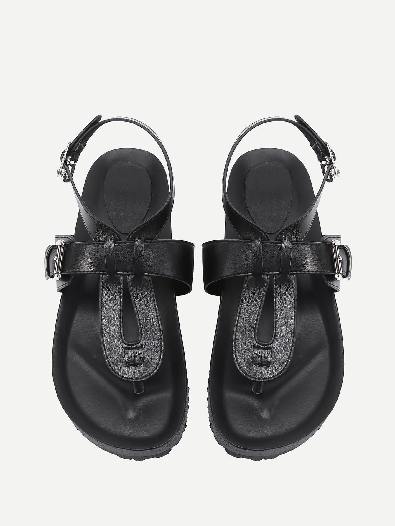 Фото Toe Post PU Sandals. Купить с доставкой