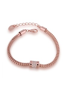 Rhinestone Detail Chain Bracelet