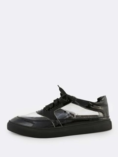 Transparent Patent Sneakers BLACK