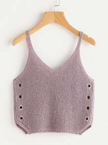 Grommet Detail Knit Top