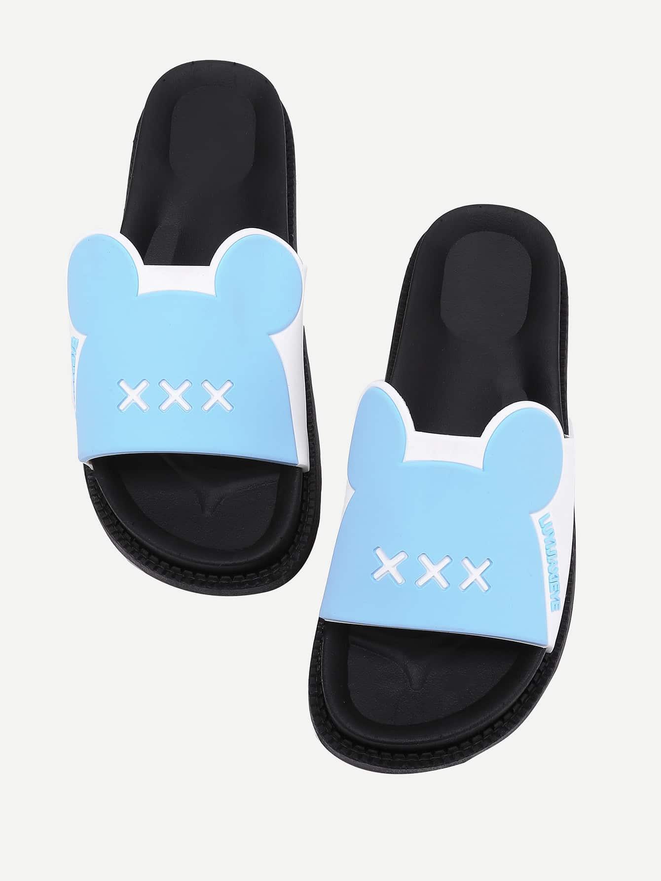 Фото Letter Detail Ear Design Flatform Sandals. Купить с доставкой