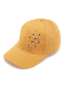 Multi Ring Embellished Baseball Cap