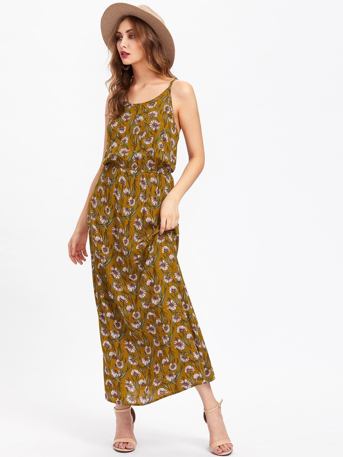 Фото Allover Calico Print Cami Dress. Купить с доставкой