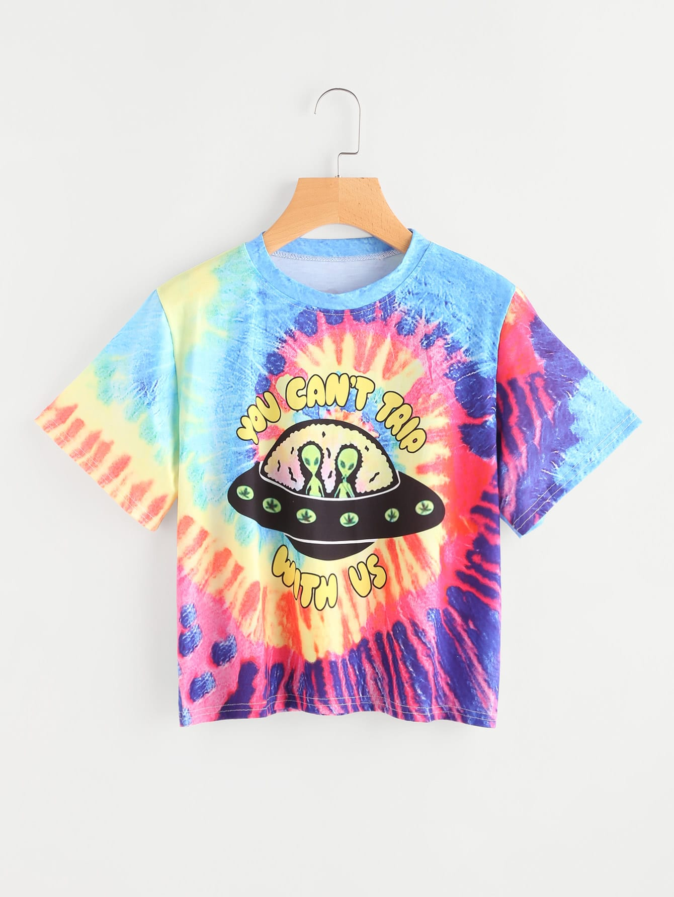Image of Alien Print Water Color Tee