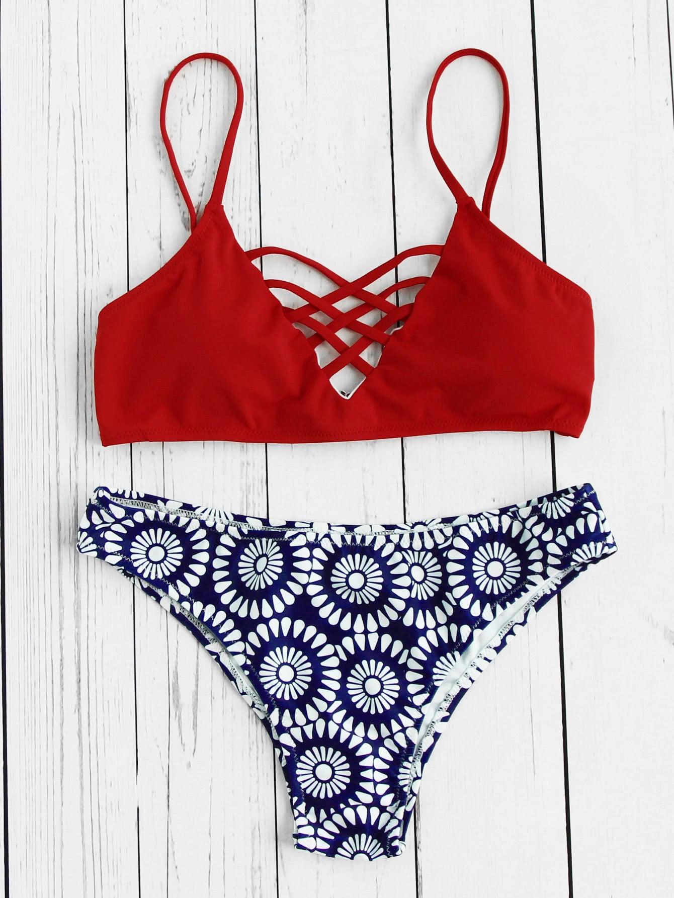 Criss Cross Mix & Match Bikini Set swimwear170509317