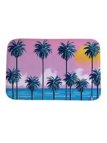 Seaside & Palm Tree Print Carpet