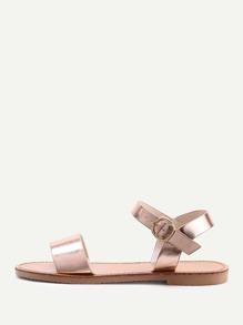 Metallic Open Toe Sandals