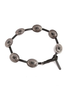 Oval Metal Detail Knot Belt