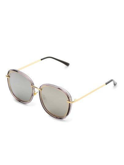 Flat Lens Square Sunglasses