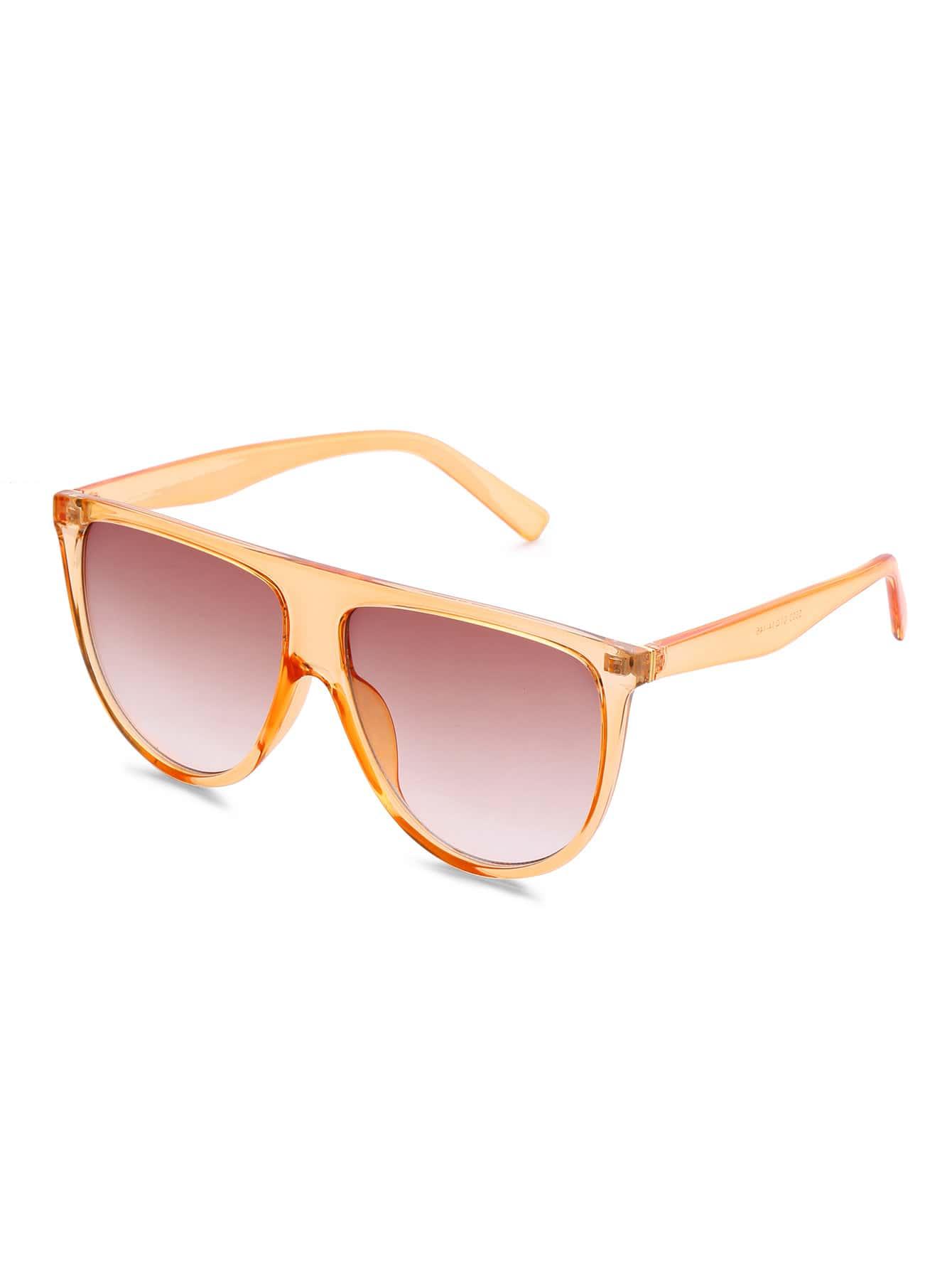 Фото Flat Top Oversized Sunglasses. Купить с доставкой