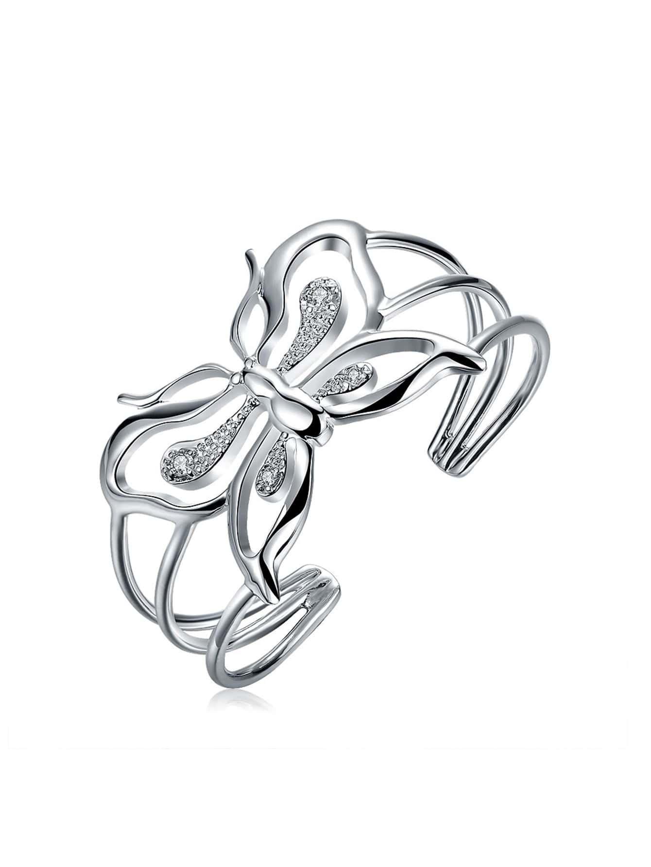 Фото Rhinestone Butterfly Design Bracelet. Купить с доставкой
