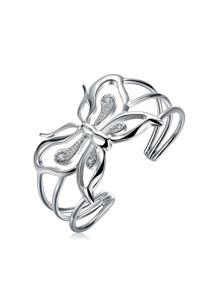 Rhinestone Butterfly Design Bracelet