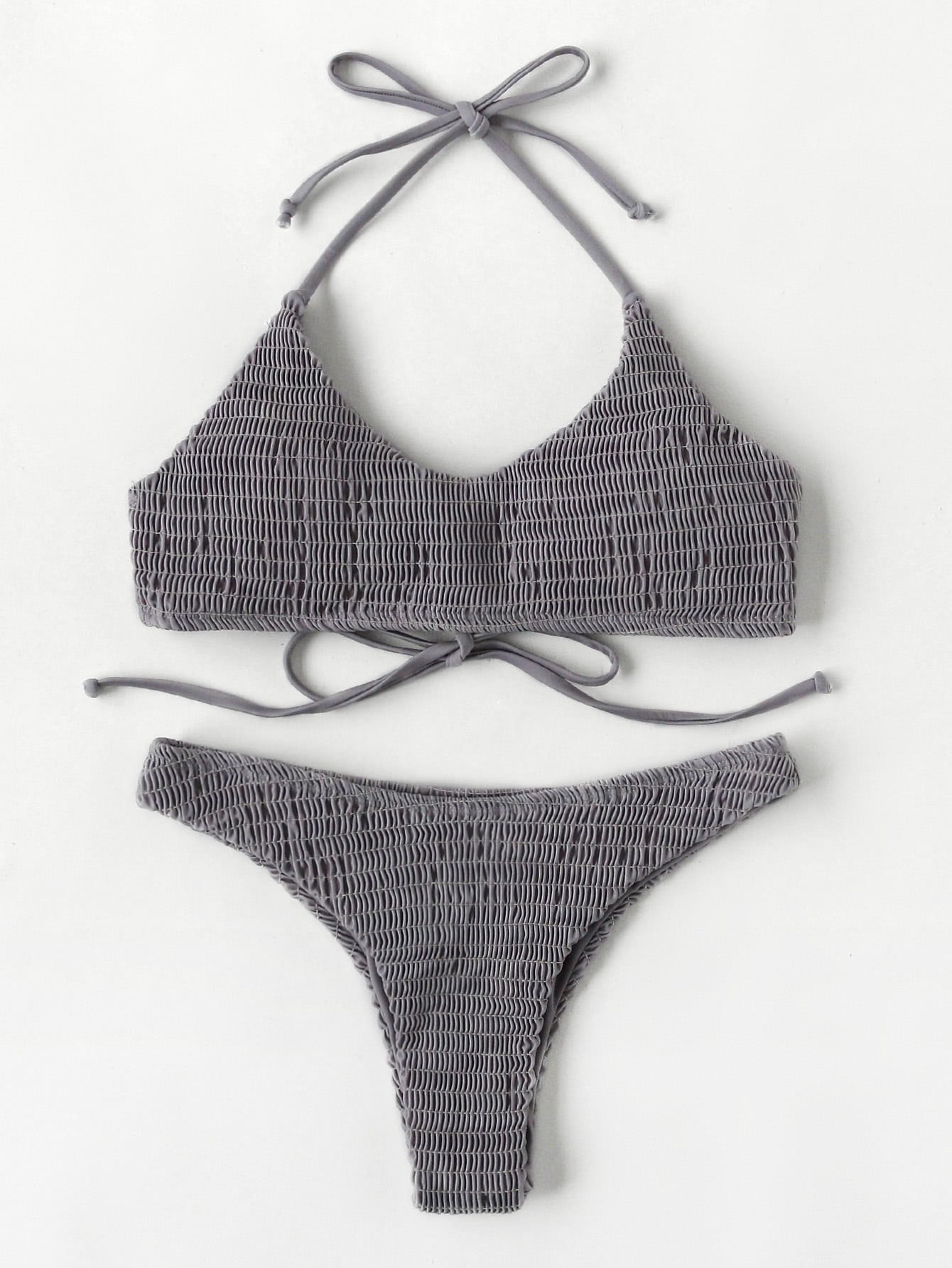 Фото Shirred Halter Bikini Set. Купить с доставкой