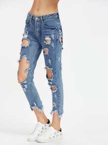 Destroyed Crop Jeans
