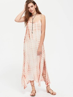 Split Side Tie Dye Cami Dress