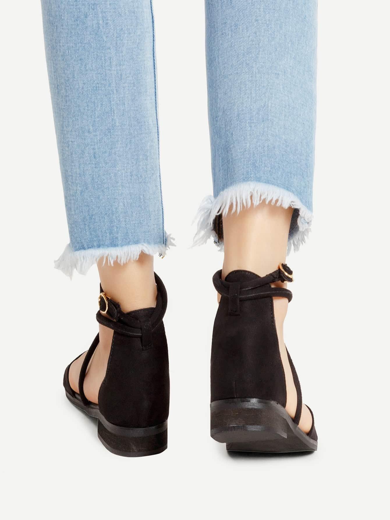 Open Toe Criss Cross Flat Sandals