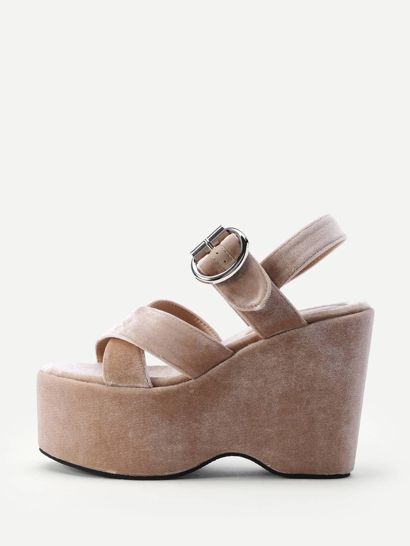 Фото Criss Cross Strappy Wedge Sandals. Купить с доставкой