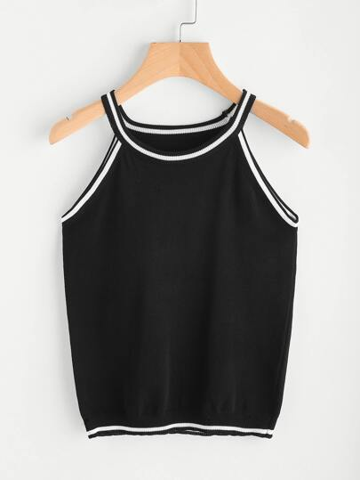 Contrast Trim Cami Top
