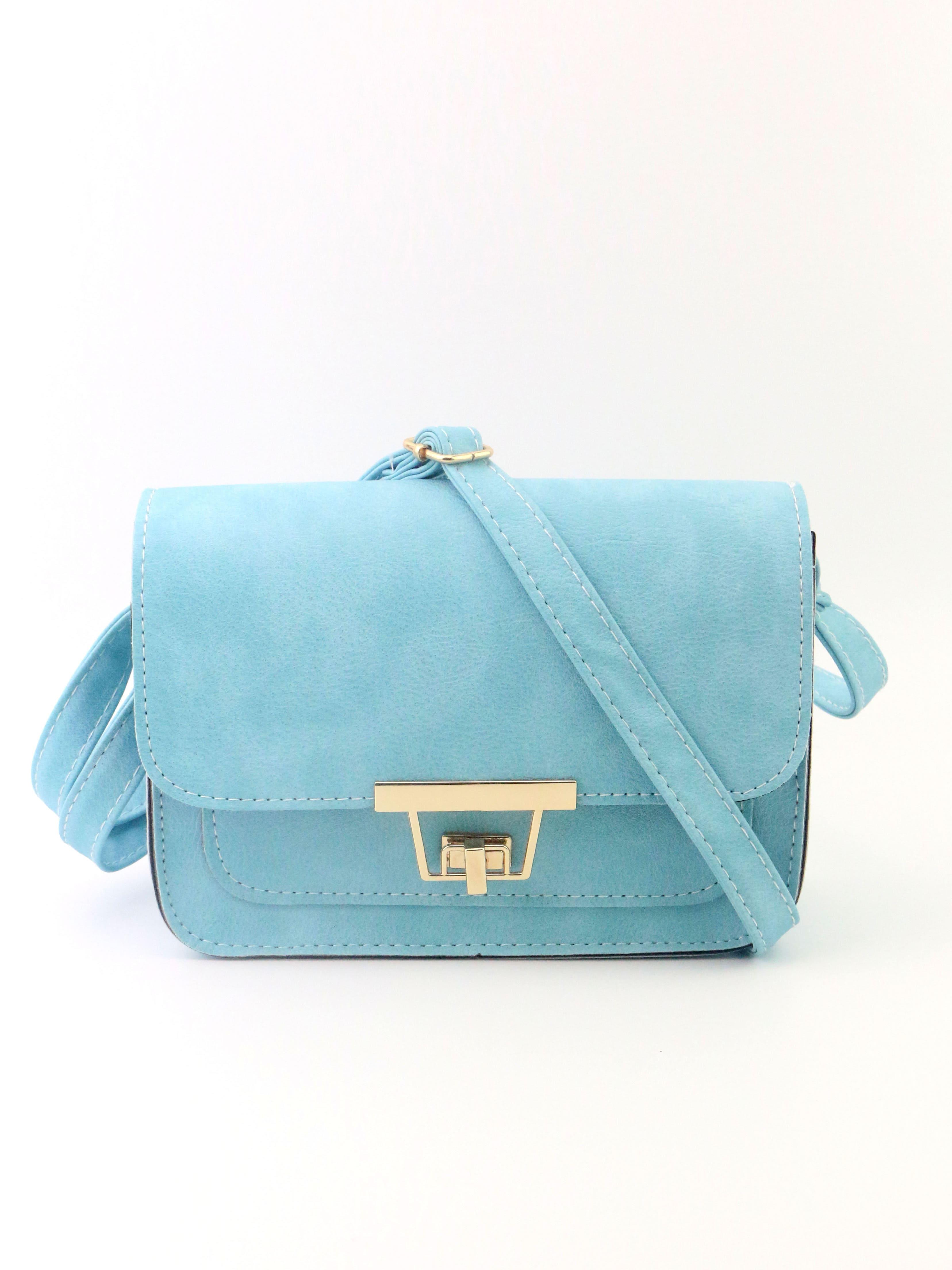 Фото Twist Lock Flap Crossbody Bag. Купить с доставкой