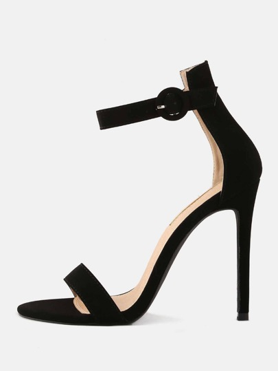 Stiletto Open Toe High Heels BLACK