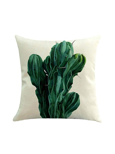 Contrast Cactus Print Cushion Cover