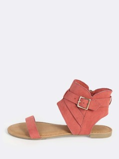 Open Band Hooded Sandal DARK MAUVE