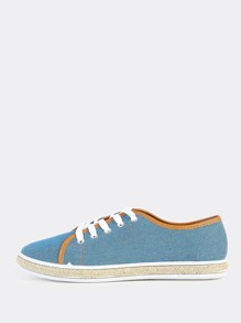 Denim Espadrilles Sneakers BLUE DENIM