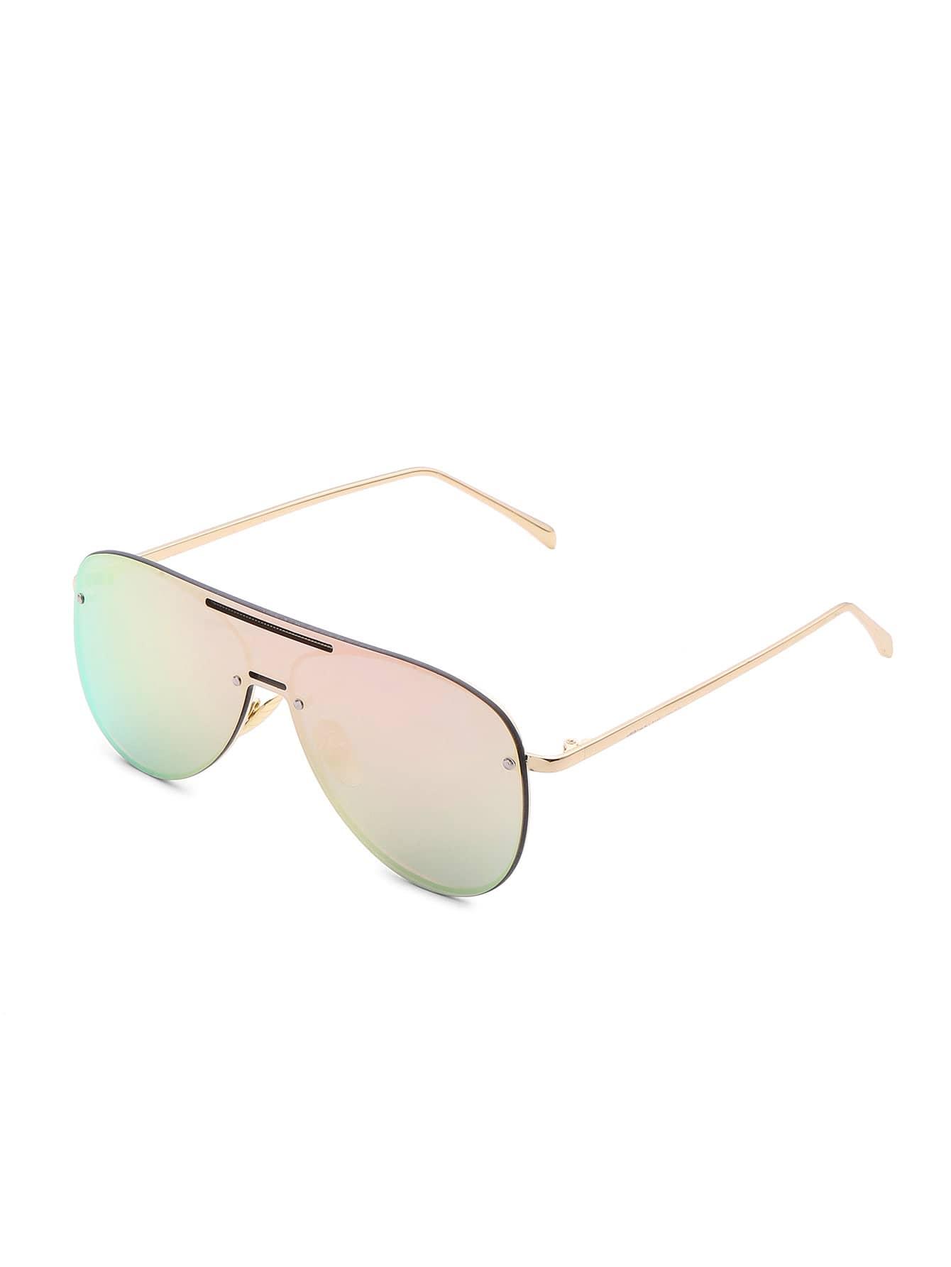 Фото Rimless Visor Aviator Sunglasses. Купить с доставкой