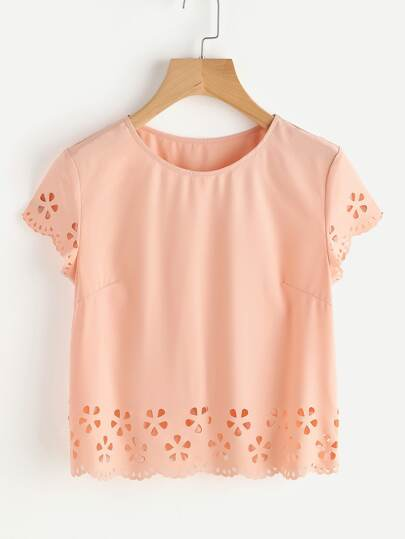 Scallop Edge Laser Cut Top