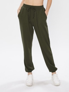 Slanted Pocket Side Sweatpants