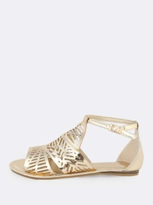 Patent Shield Sandals GOLD