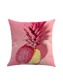 Incised Pineapple Print Pillowcase Cover