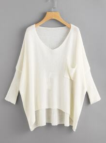 Loose Knit Dip Hem Dolman Jumper