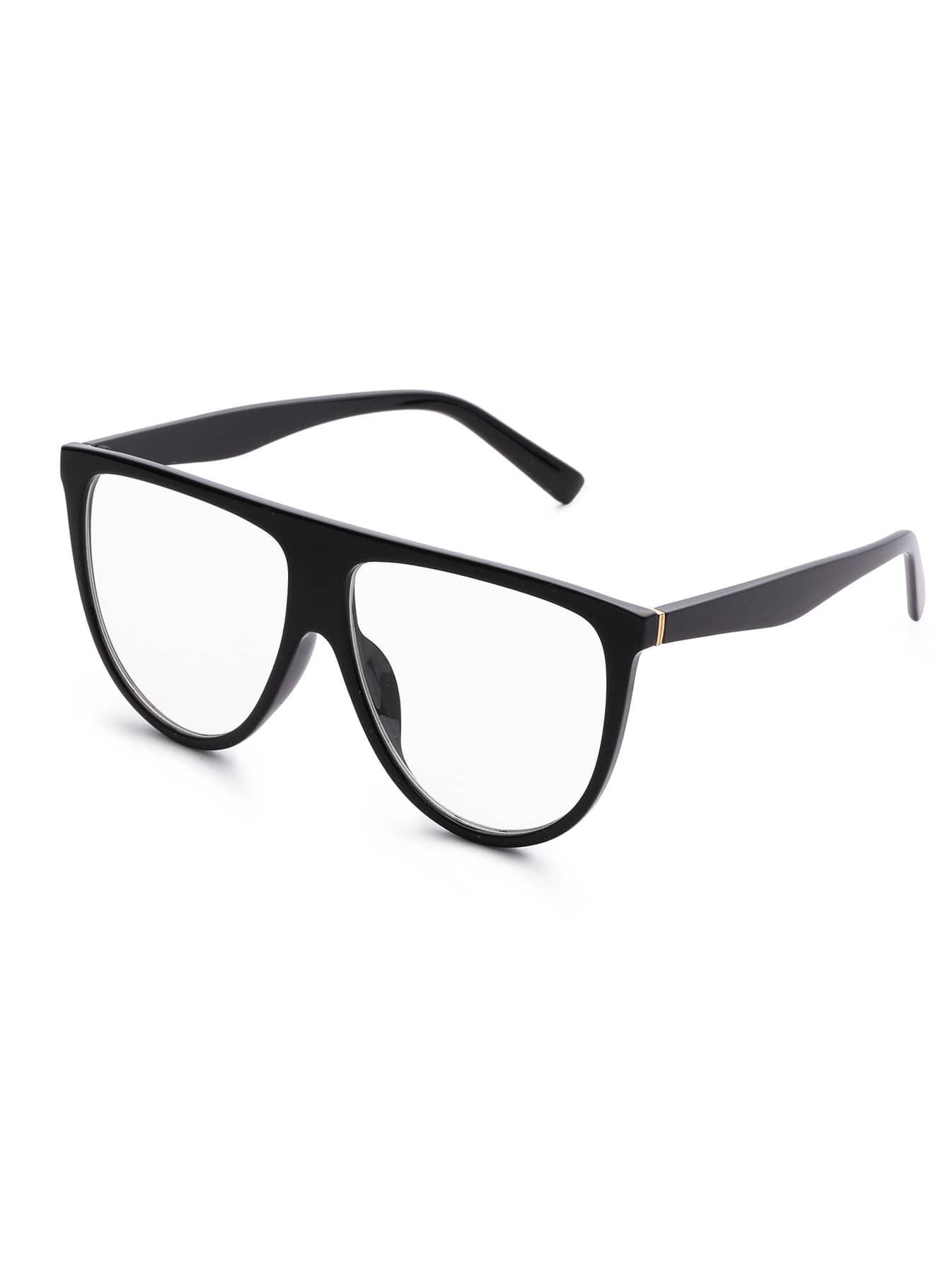 Фото Flat Top Clear Lens Oversized Glasses. Купить с доставкой