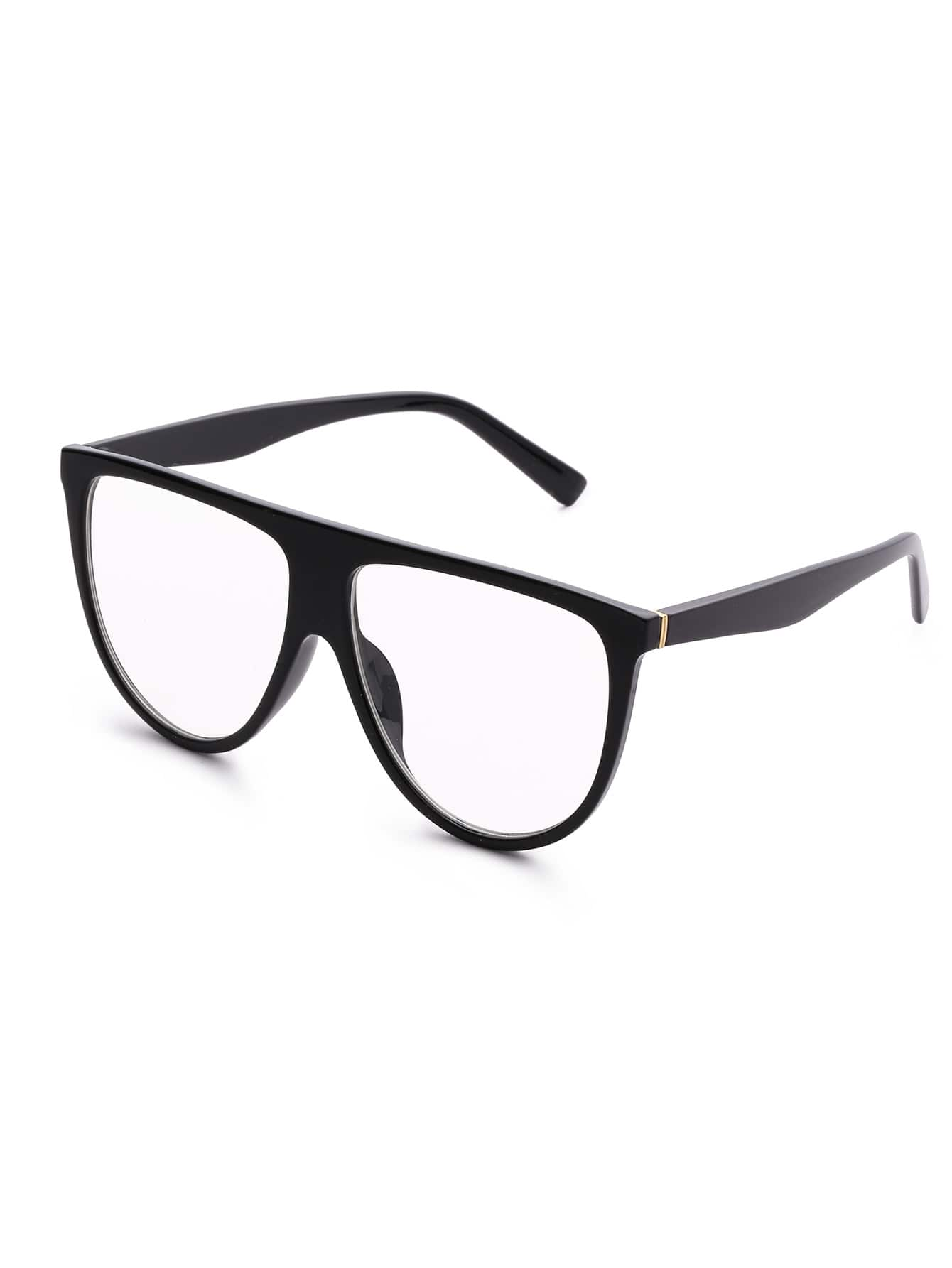 Flat Top Clear Lens Oversized Glasses sunglass170629301