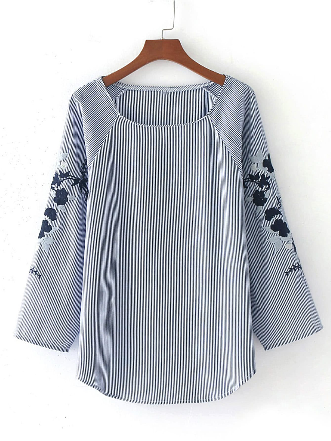 http://it.shein.com/Raglan-Sleeve-Embroidery-Pinstripe-Blouse-p-368928-cat-1733.html