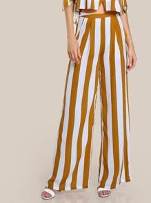 Pantalones plisados de rayas